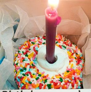 Birthday Cupcake With Candle In Box